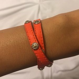 ✨Henri Bendel Double Strap Orange Bracelet✨